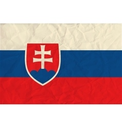 Slovakia paper flag vector image