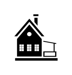 Small wooden house icon simple style vector