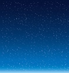 Snow Flakes Falling Against Blue background vector