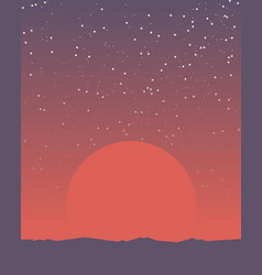 Space retro banner vector