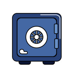 strongbox close to security special thing vector image