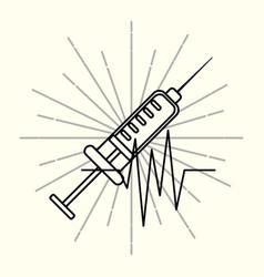 Syringe medical supply healthcare vector