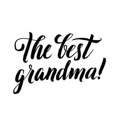 The Best Grandma Happy Grandparents Day vector image