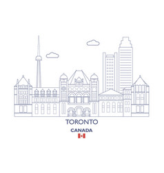 toronto city skyline vector image
