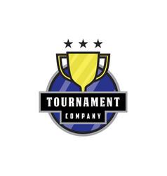 tournament trophy logo vector image
