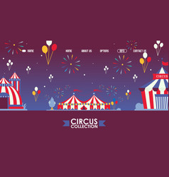 traveling circus website design vector image