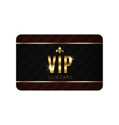 VIP card template vector image vector image
