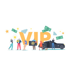Vip persons lifestyle concept luxury characters vector