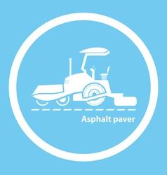 Wheel asphalt paver vector