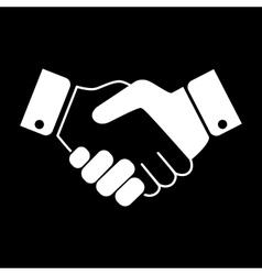 White Handshake icon vector image