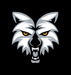 wolf head mascot design vector image