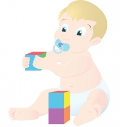 baby playing vector image vector image