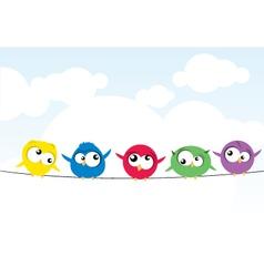 birds on wire vector image vector image