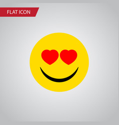 isolated heart-shaped eyes flat icon love vector image