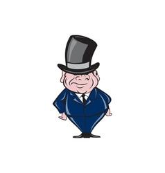 Man Wearing Top Hat Smiling Cartoon vector image vector image