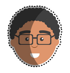 Man with facial expression using glasses vector