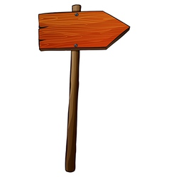 A signboard arrow made of wood vector image