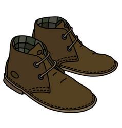 brown suede shoes vector image vector image