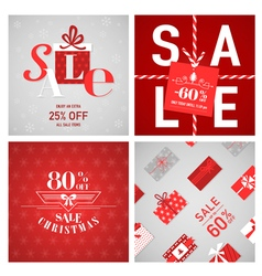 Christmas Sale Posters and Banners vector image vector image
