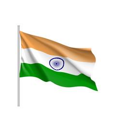 India flag flat style vector