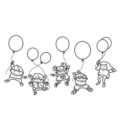kids balloons vector image
