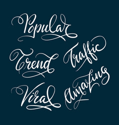 Popular and trend hand written typography vector