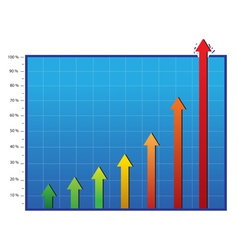 profit and commerce chart vector image vector image