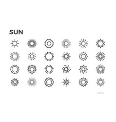 sun icons star sunny weather rays and other vector image