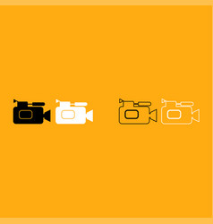 videocamera it is white icon vector image