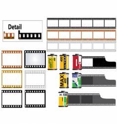 35mm film set vector image vector image