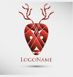 Abstract logo with deer head modern style vector