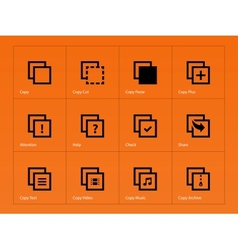 Copy Paste icons for Apps Web Pages vector image
