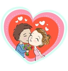 Cute couple vector image