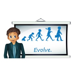 Evolution Chart vector image