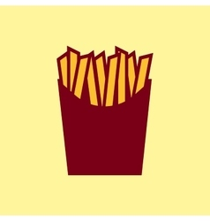 Fast food icon French fries pictogram vector image