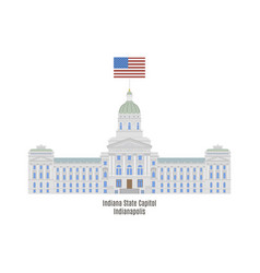 indiana state house vector image