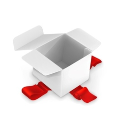 White cardboard box vector image vector image