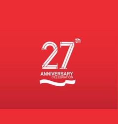 27 anniversary logotype flat design white color vector