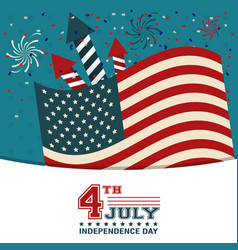 4th july independence day usa flag confetti vector image