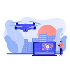 Aerial videography concept vector
