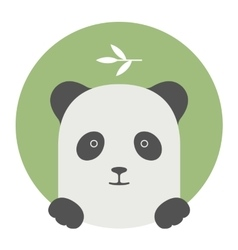 Animal set Portrait in flat graphics - Panda vector image