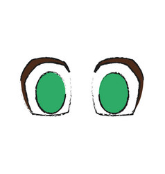 Anime eyes icon vector