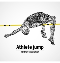 Athletics high jump competition vector