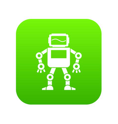 automatic mechanism icon digital green vector image