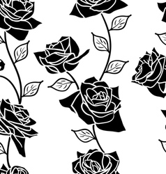 Beautiful seamless wallpaper with rose flowers vector image
