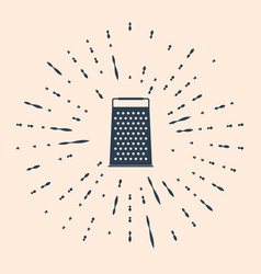 Black grater icon isolated on beige background vector