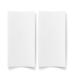 blank white paper empty poster placard vector image