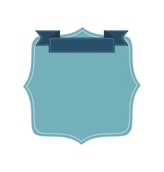 blue badge icon vector image