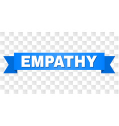 Blue ribbon with empathy text vector