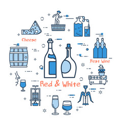 blue round red and white concept vector image
